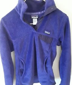 Vintage Patagonia Purple Button Pullover Small